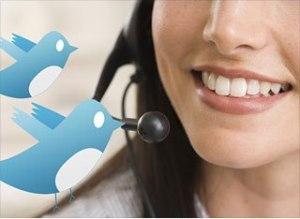 Customer service via Twitter