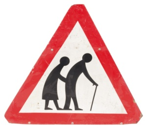 Yield Sign- elderly people