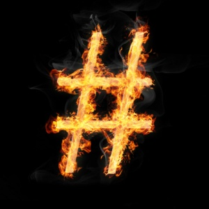 Flaming Hashtag